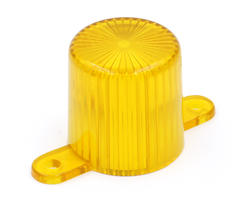Yellow flasher dome with screw tabs