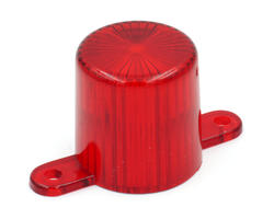 Red flasher dome with screw tabs