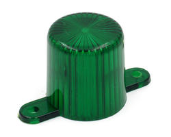 Green flasher dome with screw tabs