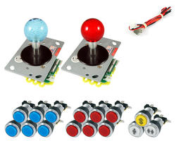 kit illuminated joysticks / bright chrome buttons