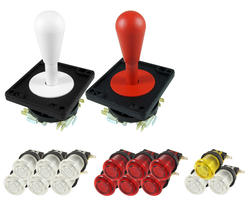 Kit Joysticks poire / translucent boutons