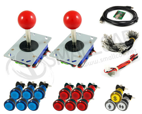 Kit standard joystick / bright buttons and USB interface