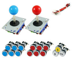 Kit standard joystick / bright chrome buttons