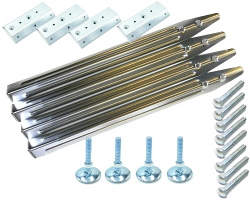 Pack of 4 chrome Pinball - Pincab legs