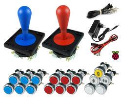 Kit RaspBerry - Bat joysticks / bright chrome buttons