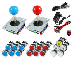Kit Raspberry standard joysticks / bright chrome buttons