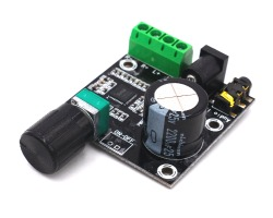 Mini stereo audio amplifier