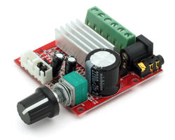 Mini stereo audio amplifier 2.1
