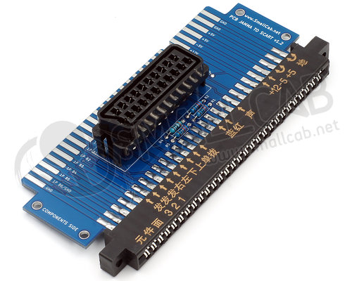 SmallCab - PCB JAMMA To Scart