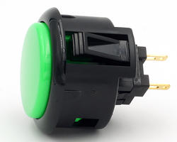 Sanwa OBSF 30mm -K - Green and black rim