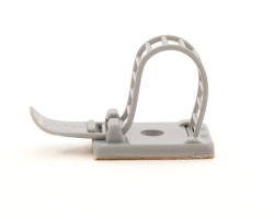 Adhesive cable clamp - Grey