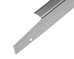 Side rail - Brushed stainless steel x2