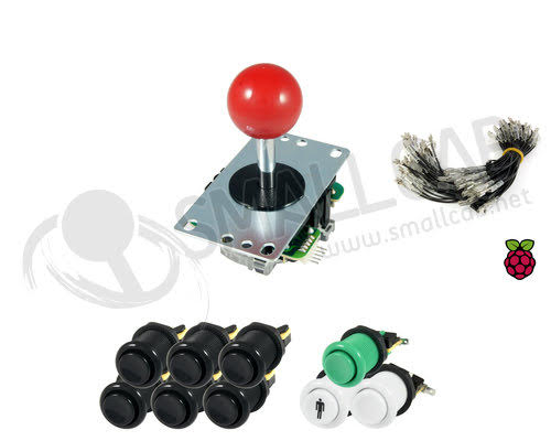 Kit Sanwa joystick / buttons - 1 player for Raspberry