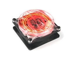 Ventilateur 80 mm - Led rouge